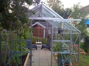 Växthus Odla : Äntligen står det på plats odla trädgårdsforumet